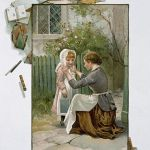 19th Century English Illustration Entitled The First Day at School