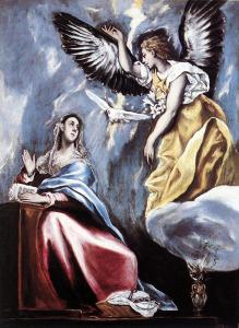 Ευαγγελισμός του Δομήνικου Θεοτοκόπουλου, 1600